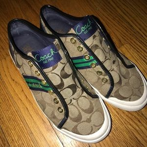Coach sneakers w/ no laces